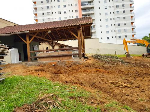 Terreno limpo pronto para início das obras